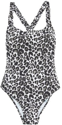 Fisch Oubli Leopard-print Ruched Swimsuit - Womens - Leopard