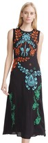 Cynthia Rowley Embroidered Silk Sleeveless Dress
