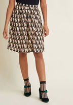 ModCloth Express to Impress A-Line Midi Skirt in M