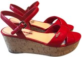Prada Red Patent leather Sandals