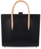 Christian Louboutin Paloma Medium Triple-Gusset Tote Bag, Black