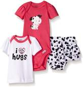 Gerber Baby Three-piece Bodysuit Lap-shoulder Shirt and Skort Set