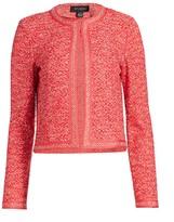 St. John Marled Space Dyed Tweed Knit Jacket
