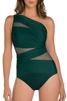 Miraclesuit Solid Semi-Sheer One-Piece