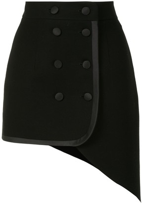 George Keburia Fitted Double-Breasted Skirt
