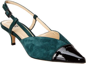 Bruno Magli M by M By Fran Suede & Patent Pump