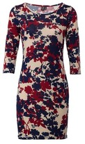 Dorothy Perkins Womens Izabel London Navy Floral Print Bodycon Dress