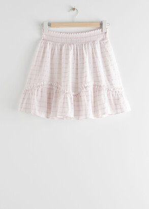 And other stories Smocked Frill Mini Skirt
