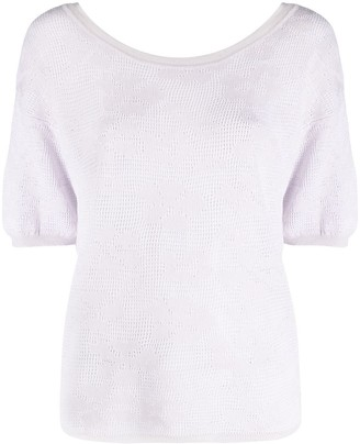 Malo Round Neck Short-Sleeved Top