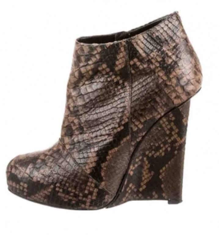 Giuseppe Zanotti Python ankle boots