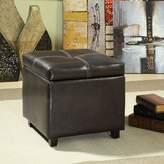 Modway Treasure Vinyl Storage Cube/Ottoman in Espresso