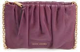 Marc Jacobs Ruched Leather Crossbody Bag - Burgundy