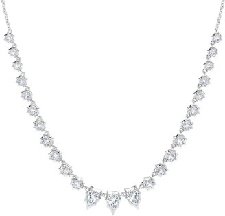 Jade Trau Envoy Pear Diamond Riviera Necklace