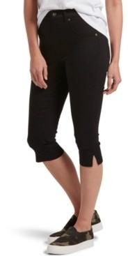 Hue Women's Ultra Soft Denim High Waist Short Capri Legging