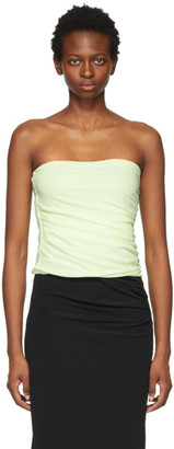 Helmut Lang Green Twist Tube Top
