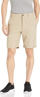 Haggar Men's In Motion Melange Flat Front Slim Fit Active Short