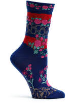 Ozone Navy Floral Gates Socks