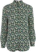 Topshop Polka Dot and Ditsy Print Casual Shirt