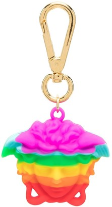 Versace rainbow Medusa keyring