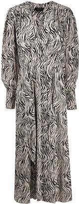 Isabel Marant Zebra-Print Long Dress
