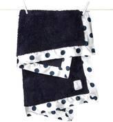 Little Giraffe Chenille New Dot Blanket Denim