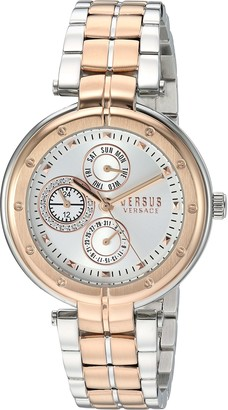 Versus By Versace Women's Bellville Gold Quartz Watch with Two-Tone-Stainless-Steel Strap
