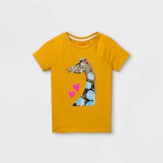 Cat & Jack Girls' Flip Sequin Giraffe Short Sleeve T-Shirt - Cat & JackTM