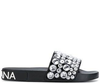 Dolce & Gabbana rhinestone-embellished slides