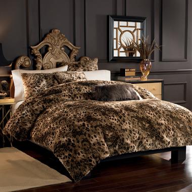 Bed Bath & Beyond Lynx Faux Fur Duvet Cover Set