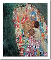 Gustav 1art1 Posters Klimt Poster Art Print - Life and Death (28 x 20 inches)