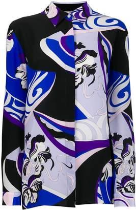Emilio Pucci Zaffiro Peonia print silk shirt