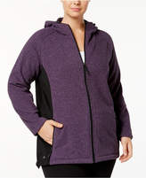 Ideology Plus Size Colorblocked Hooded Jacket, Created for Macy's