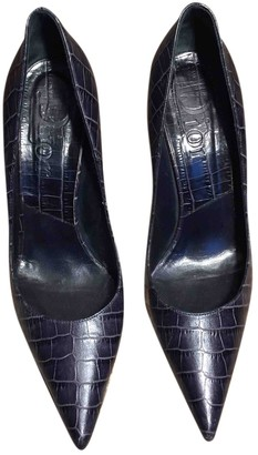 Christian Dior Navy Leather Heels