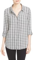 Soft Joie Eirene Plaid Roll Sleeve Shirt
