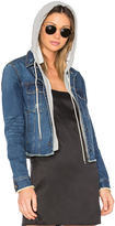 Central Park West Beacon Hooded Jean Jacket