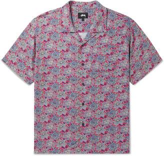 Stussy Camp-Collar Floral-Print Woven Shirt