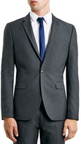 Topman Men's Skinny Fit Grey Suit Jacket