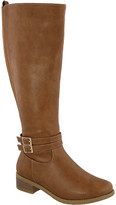 Top Moda Women's Riding Boots Tan - Tan Buckle-Accent Raffia Boot - Women