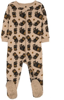 Beige UPS Footed Sleeper Pajama (Baby, Toddler, & Little Kids)