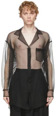Sulvam Black Organza Over Shirt