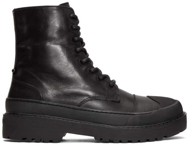 Neil Barrett Black Tark High Military Boot