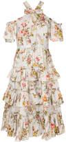 Needle & Thread off-shoulder floral dress