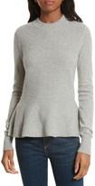 Veronica Beard Women's Raleigh Cashmere Peplum Sweater
