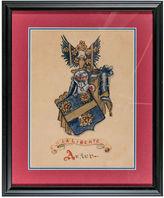 One Kings Lane Vintage Framed Coat of Arms