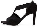 Balenciaga Suede & Mesh T-Strap Sandal, Noir