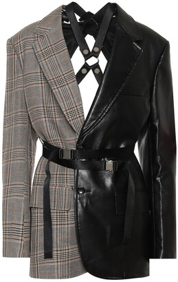 Junya Watanabe Checked faux leather blazer