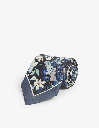 Paul Smith Floral-patterned silk tie