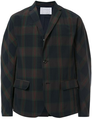 Kolor Checked Single-Breasted Blazer