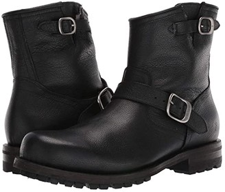 Frye Boyd Engineer Boots (Black WP Tumbled Full Grain) Men's Boots