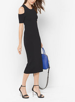 Michael Kors Peekaboo Stretch-Viscose Midi Dress